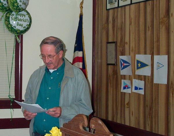 Wally Stone at a 2001 BCYC organizing meeting